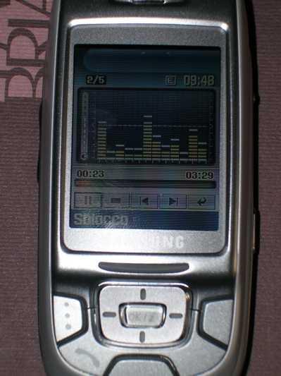 171305 D500 lettoreMp3 - Samsung D500E: quasi perfetto