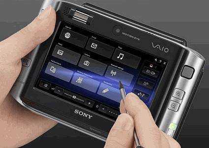 sony vaio ux micro pc stylus screen - Finalmente in Europa il Sony Vaio VGN-UX1XN