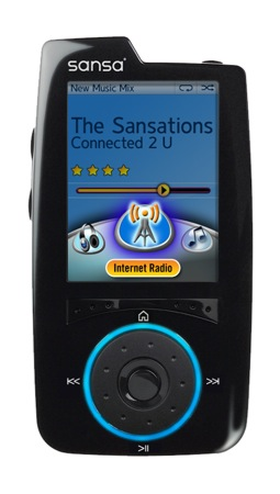 SansaConnect InternetRadio - Sandisk Sansa e Yahoo tentano di recuperare il gap con iPod