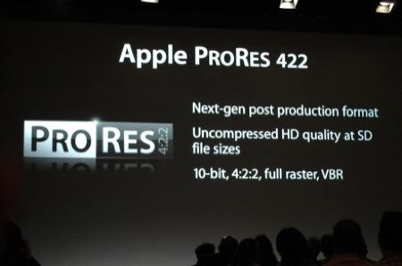 prores422 - Apple presenta il nuovo software professionale e una novita' hardware al NAB di Las Vegas