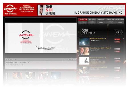 cinemafestival08102008 - Al via la Web TV della III edizione del Festival Internazionale del Film di Roma