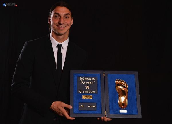 zlatan ibrahimovic golden foot 2012 - Zlatan Ibrahimovic è il vincitore del Golden Foot 2012