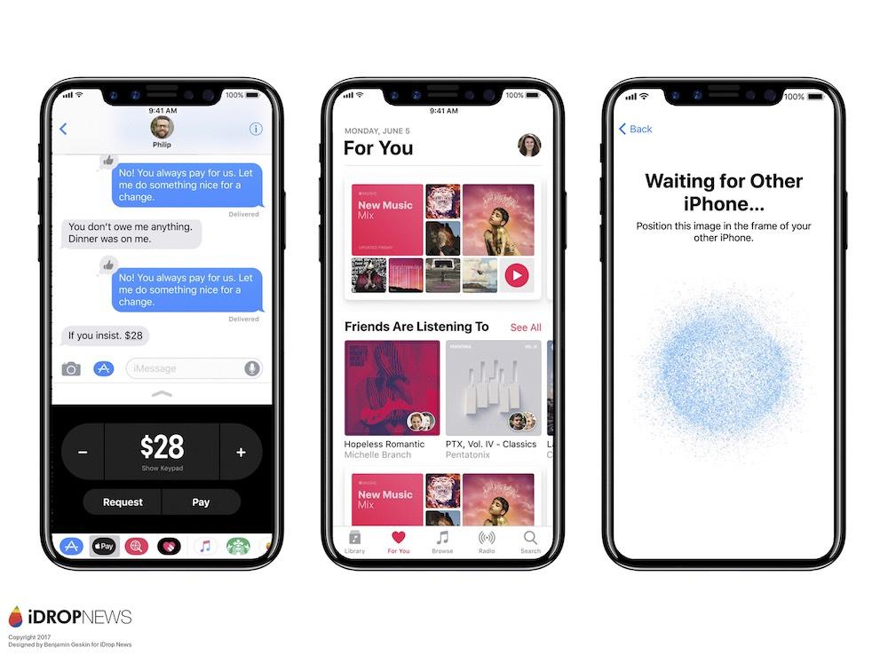 iPhone X iDrop News 22 - iPhone 8 riconoscimento facciale al posto del Touch ID