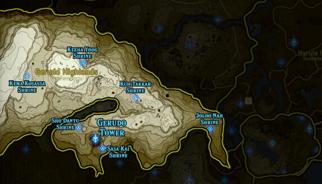 Gerudo Region 1024x585 - The Legend Of Zelda Breath of The Wild, guida alla posizione di tutti i Santuari