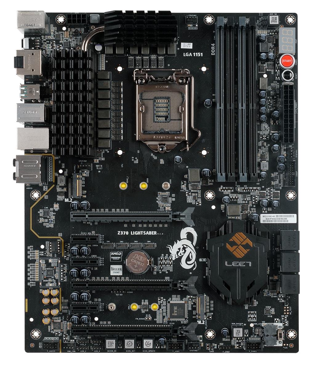 z370 lightsaber 1 0  m2hdf - ECS presenta la nuova motherboard per piattaforma Intel Cofee Lake Z370 Lightsaber