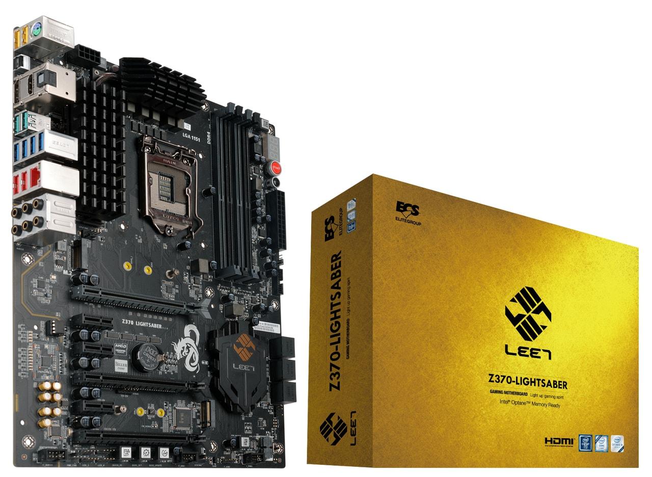 z370 lightsaber 3d b vL6VN - ECS presenta la nuova motherboard per piattaforma Intel Cofee Lake Z370 Lightsaber