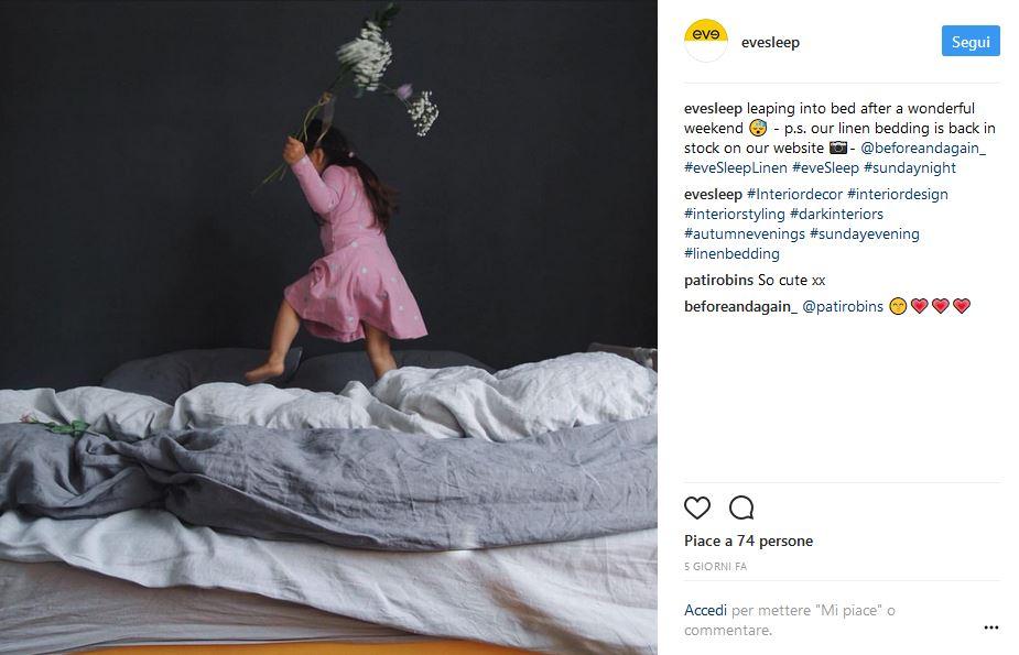 EVEinstagram - Sleepeve.it il nuovo modo di acquistare il vostro materasso