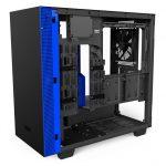 H400i Matte BlackBlue Right45 OpenPanel 150x150 - NZXT presenta la nuova Serie H dei suoi case per PC