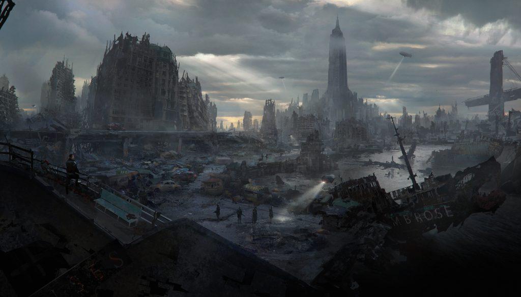 Manhattan destruido por las bombas nucleares
