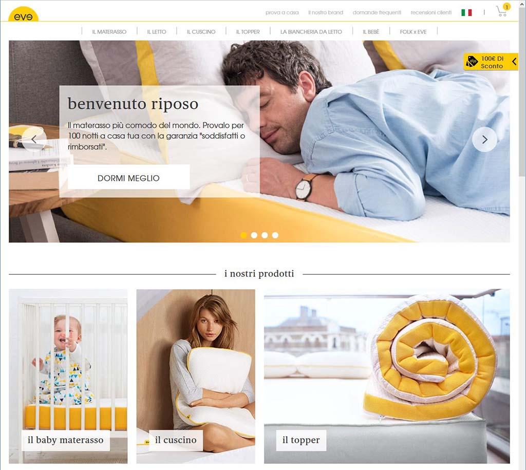 evesleephome - Sleepeve.it il nuovo modo di acquistare il vostro materasso