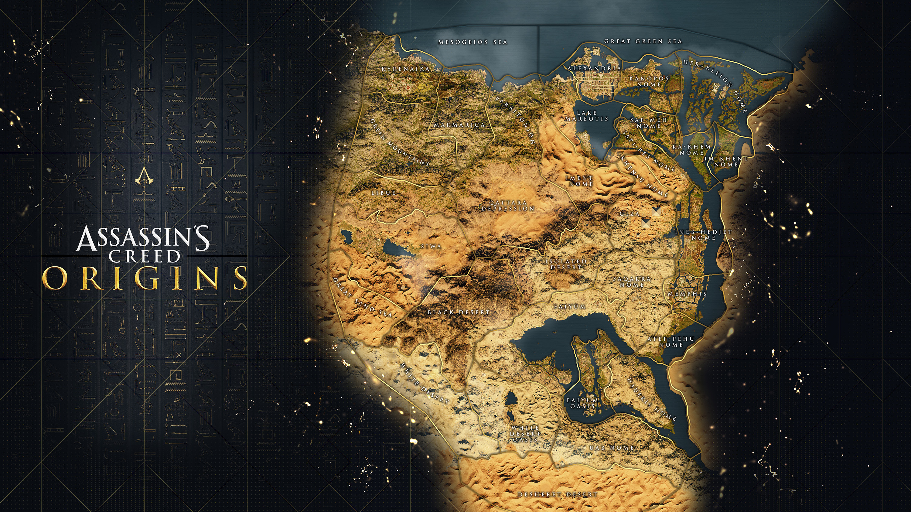 AC Origins full map - Assassin's Creed Origins, guida alternativa al gioco