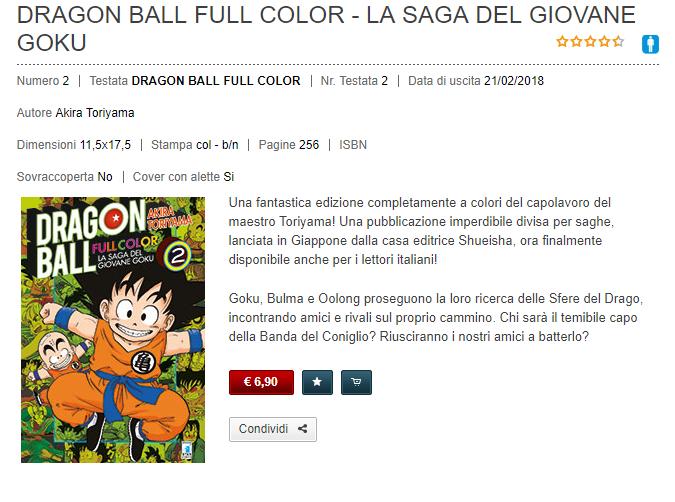 DB Full Color n°2 - Recensione Dragon Ball Full Color – La Saga del Giovane Goku n°2
