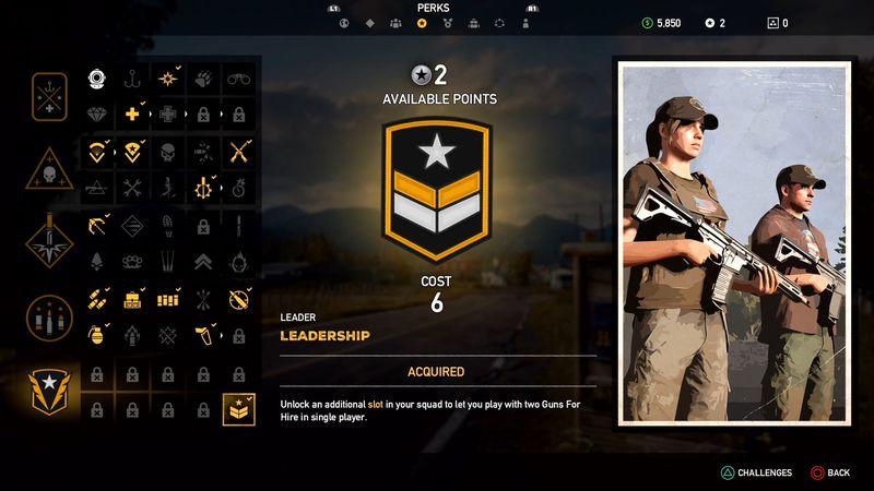 LEADER - Far Cry 5, guida alle abilità