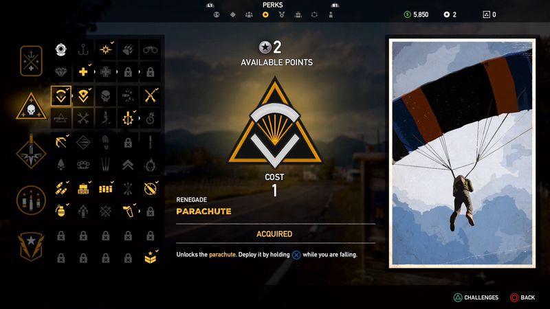 RENEGADE - Far Cry 5, guida alle abilità