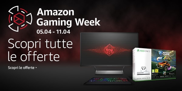 Amazon Gaming Week - Amazon Gaming Week, tante offerte su videogiochi e hardware