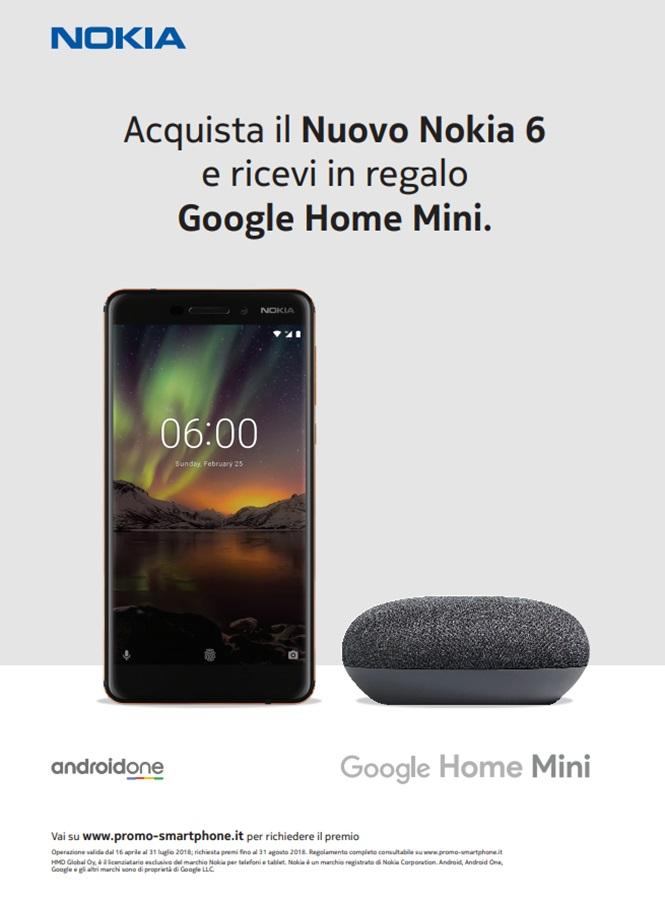 Nokia6 Google Home Mini - Nokia aggiorna il suo Nokia 6, offrendo prestazioni migliori allo stesso prezzo