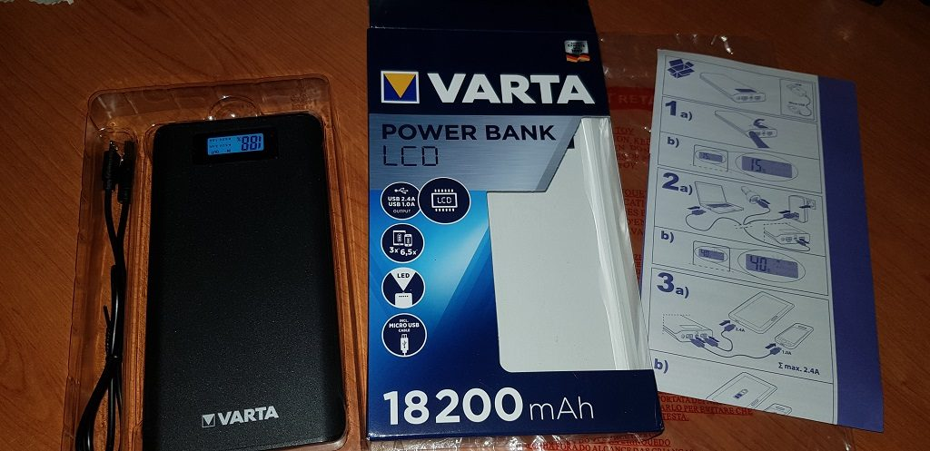 20180702 164317 1024x497 - VARTA LCD Power Bank 18.200 mAh, la nostra recensione