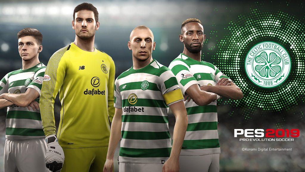 PES2019 Celtic Players 1024x576 - Il Celtic si unisce al roster di club partner di PES 2019