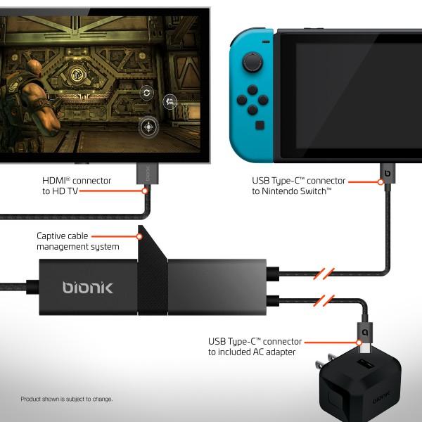 bionik gaming tv lynx - Bionik Gaming sta rilasciando un cavo che replica il Dock di Switch