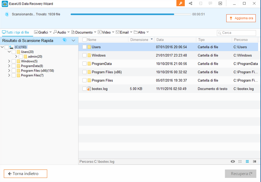 easeus1 - Recensione EaseUS Data Recovery Wizard Free 12.0