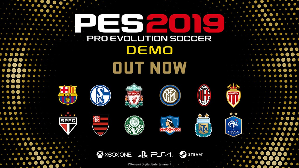 PES2019demoOUTNOW - Konami, disponibile la demo di PES 2019