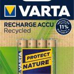 RECHARGE ACCU Recycled 800mAh 150x150 - Varta, presentate le prime batterie riciclabili realizzate con l'11% di materiale riciclato