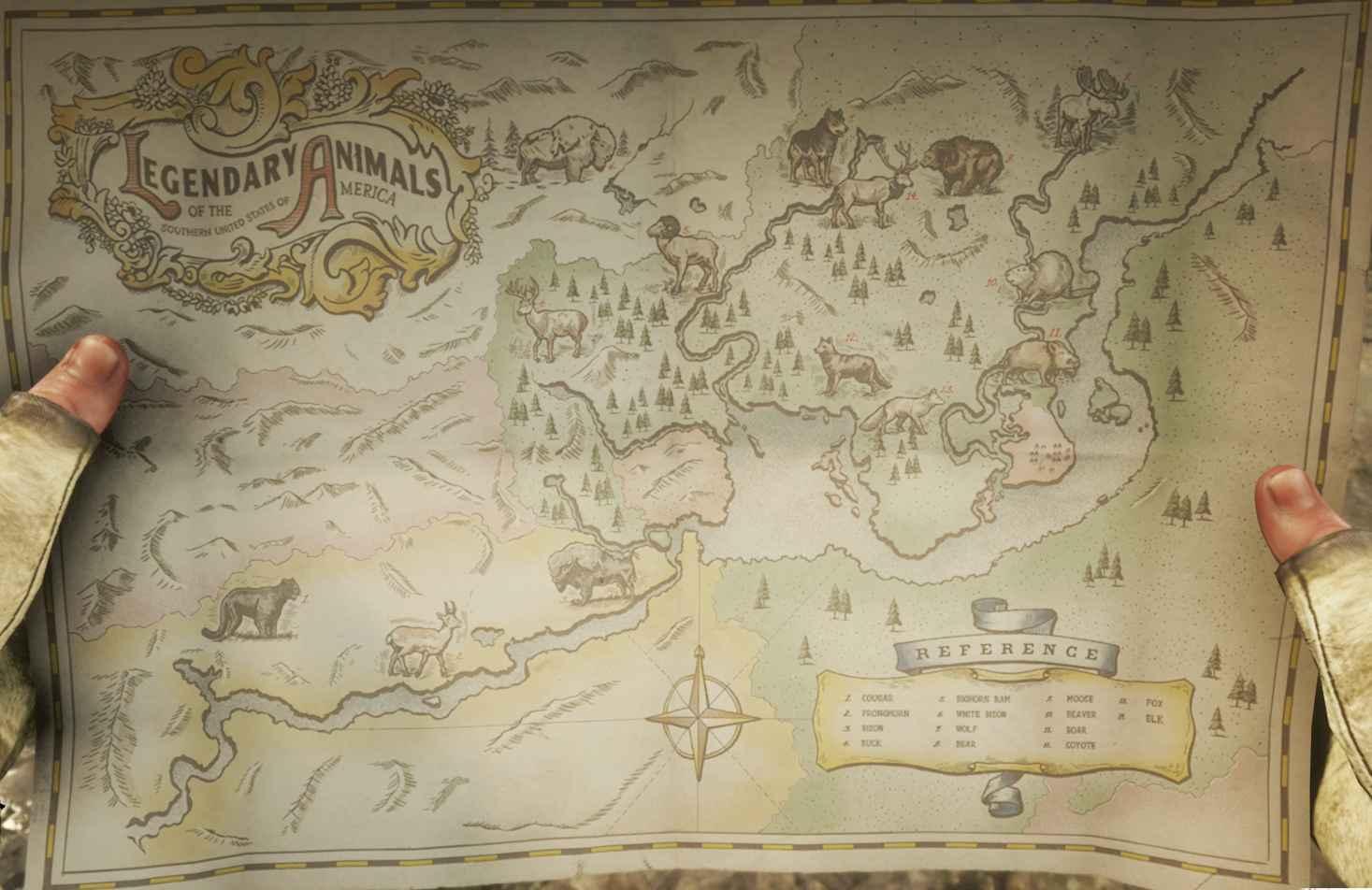 RDR2 Animali Leggendari Mappa - Red Dead Redemption 2, dove trovare tutti gli animali leggendari