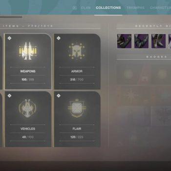 destiny 2 forsaken collections menu 720x720 350x350 - Destiny 2: I Rinnegati, la nostra recensione