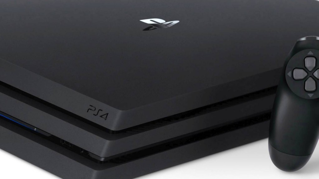 Playstation 4 pro closeup