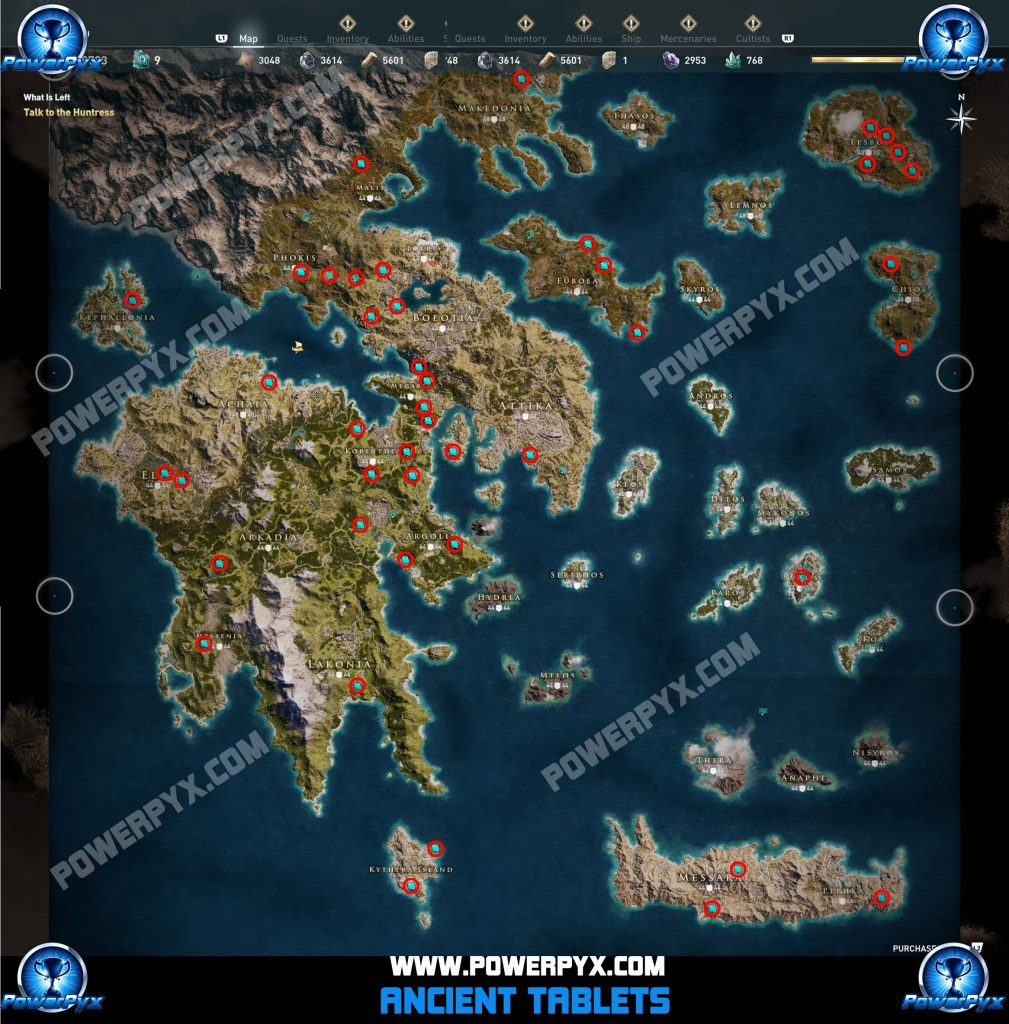 assassins creed odyssey ancient tablet locations map 1009x1024 - Assassin's Creed Odyssey, le tavolette antiche