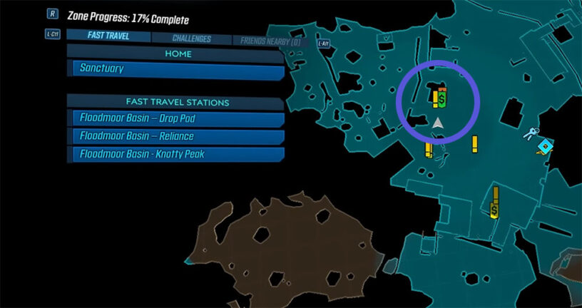 borderlands3 raiders of the lost rock map location 816x432 - Come sbloccare la bomba a pipa di porcellana in Borderlands 3