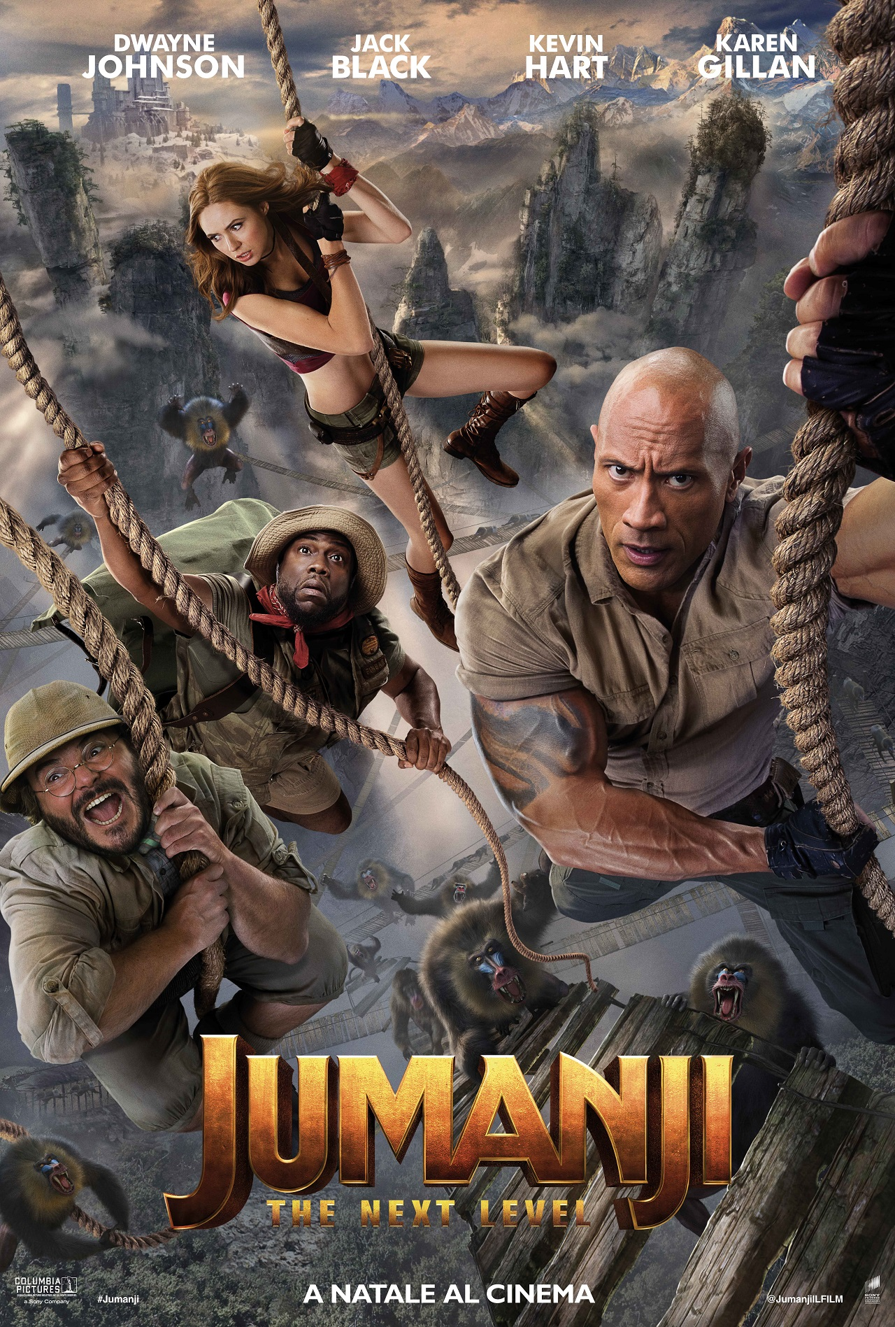 JM2 INTL OnLine 6072x9000 TSR ROPES 02 IT - Jumanji: The Next Level, nuovo poster ufficiale