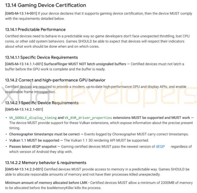 XDAdevelopersgoogle - Google sta pensando ad un programma di certificazione per gli smartphone da gaming