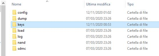 cartella keys yuzu - Guida all'installazione e alla configurazione di Yuzu, l'emulatore di Nintendo Switch
