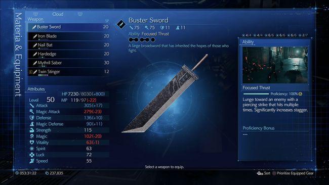 Final Fantasy VII Remake Buster Sword