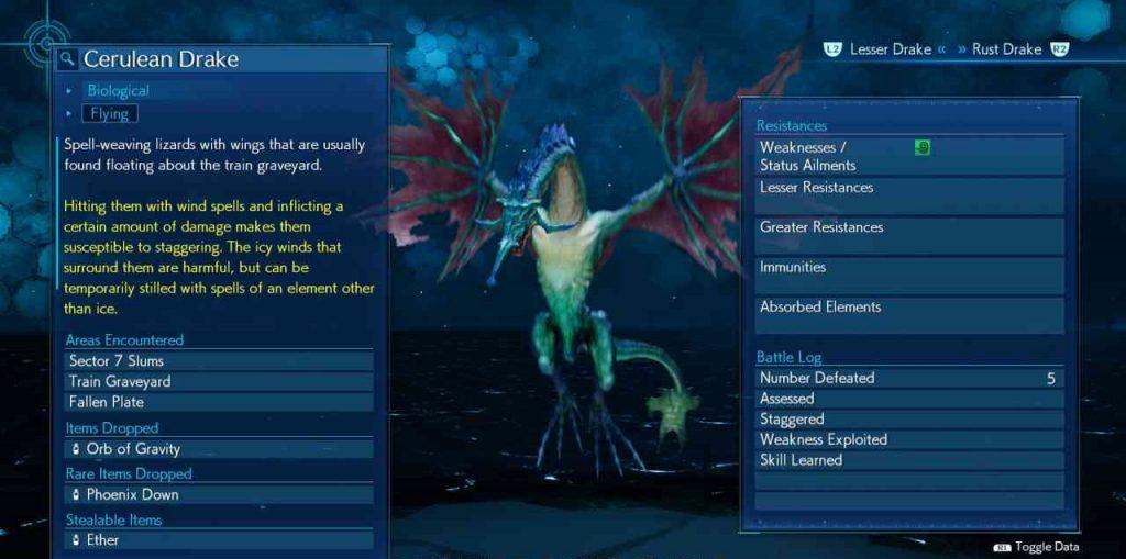 final fantasy vii remake enemy skill algid aura cerulean drake 1 1024x509 - Final Fantasy VII Remake - Guida alle tecniche nemiche