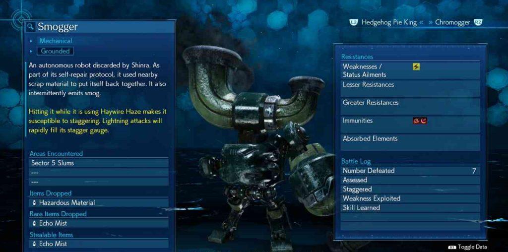final fantasy vii remake enemy skill self destruct smogger 1 1024x508 - Final Fantasy VII Remake - Guida alle tecniche nemiche