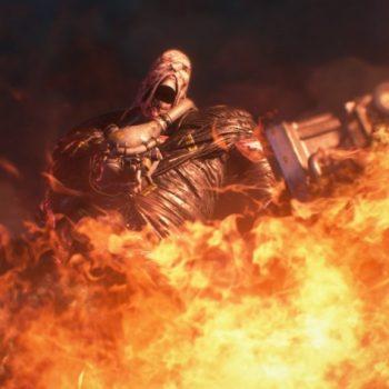 Resident Evil 3 Remake Nemesis Fuoco