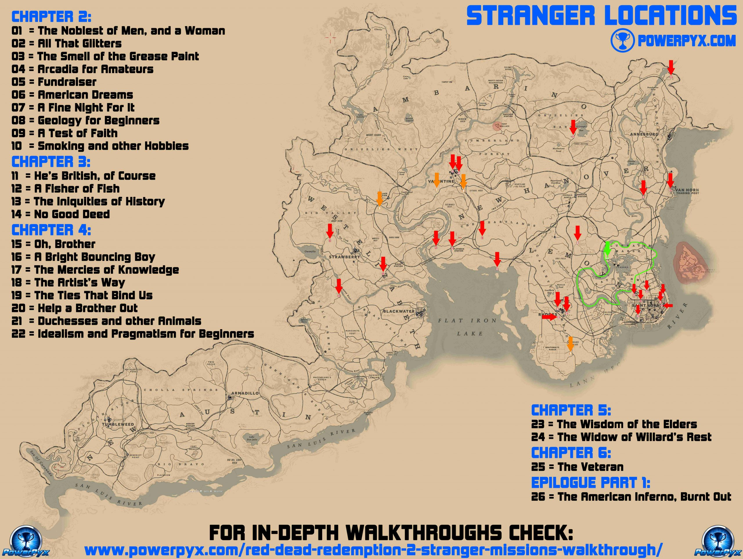 red dead redemption 2 stranger locations map scaled - Red Dead Redemption 2 - Guida ai trofei e obiettivi