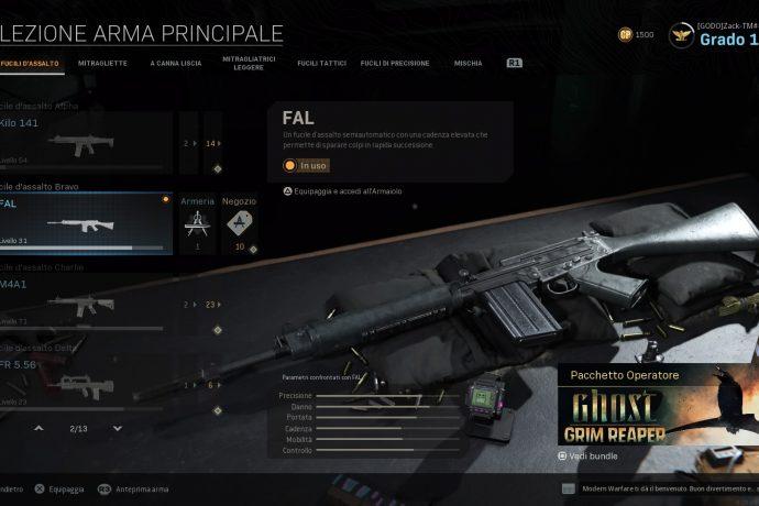 Call of Duty: Modern Warfare FAL