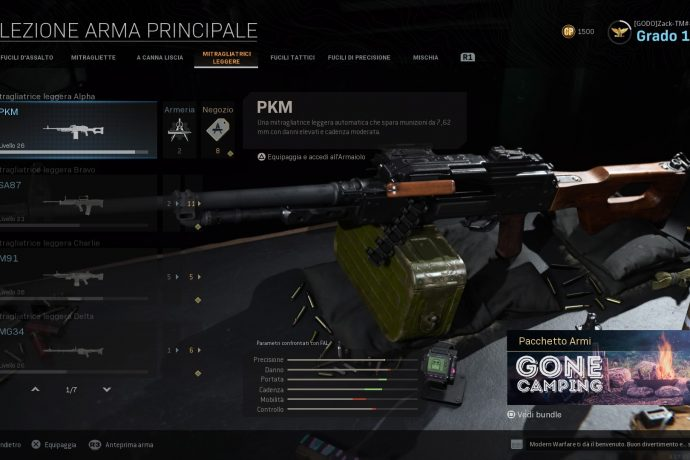 Call of Duty: Modern Warfare PKM