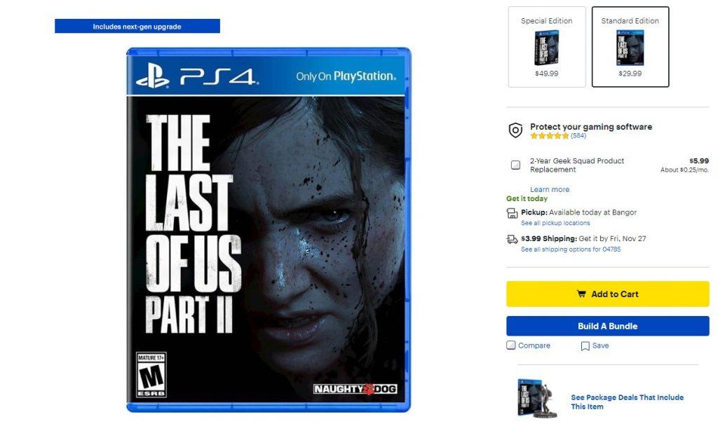 TLOU2updatenextgen 1024x605 - The Last of Us Parte 2, la versione fisica include l'aggiornamento PS5