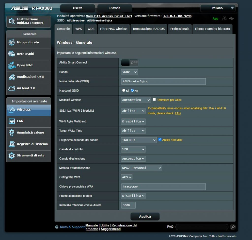 asusRTax86U 1024x974 1 - Recensione router WiFi 6 Asus RT-AX86U