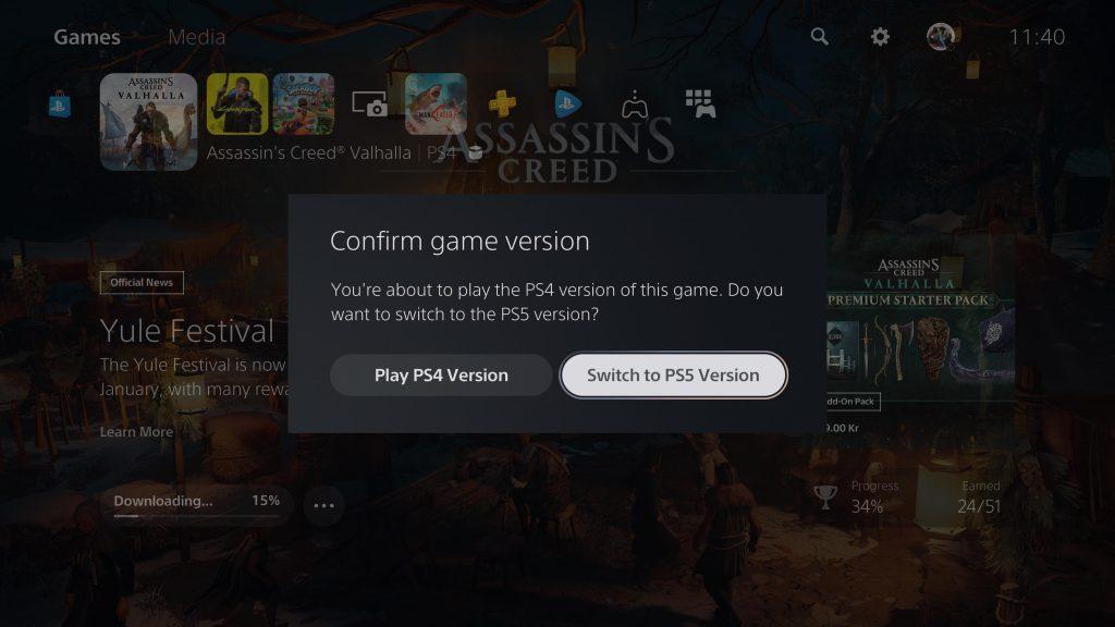 L'ultimo aggiornamento di PlayStation 5 rende più facile ai giocatori scaricare le versioni next gen dei propri titoli, evitando errori.