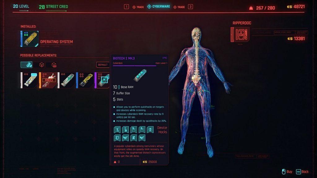 cyberpunk 5 1024x576 - Cyberpunk 2077 Guida: I migliori Cyberware