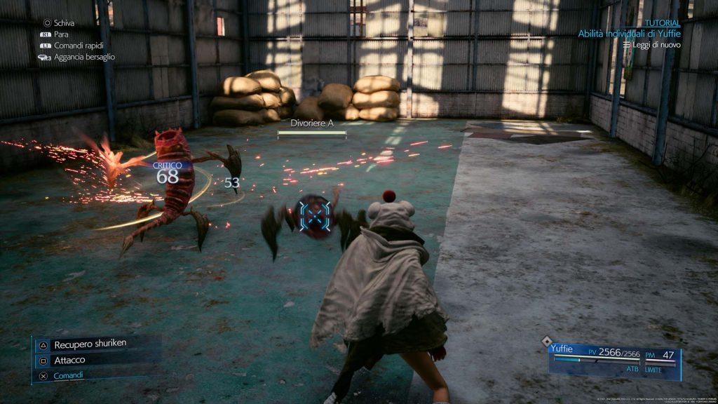 Final Fantasy VII Remake: Episode INTERmission combattimento
